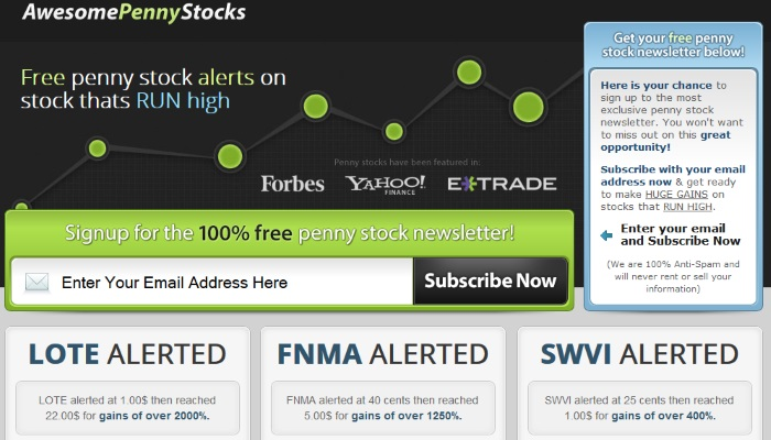 Awesome Penny Stocks Pumps